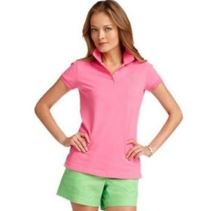 NWOT Lilly Pulitzer Pink Polo Shirt